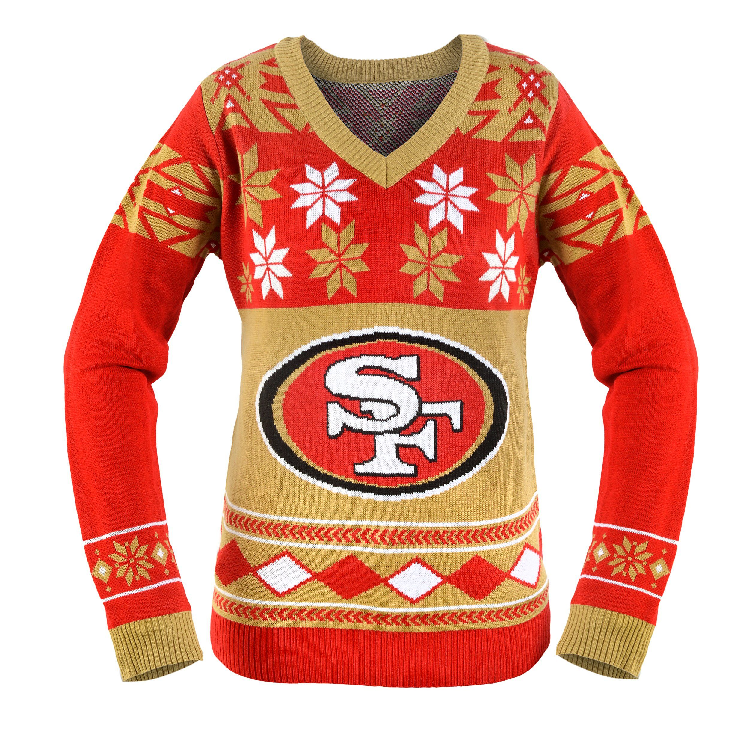 San Francisco 49ers Ugly Christmas Sweaters Football Pinterest
