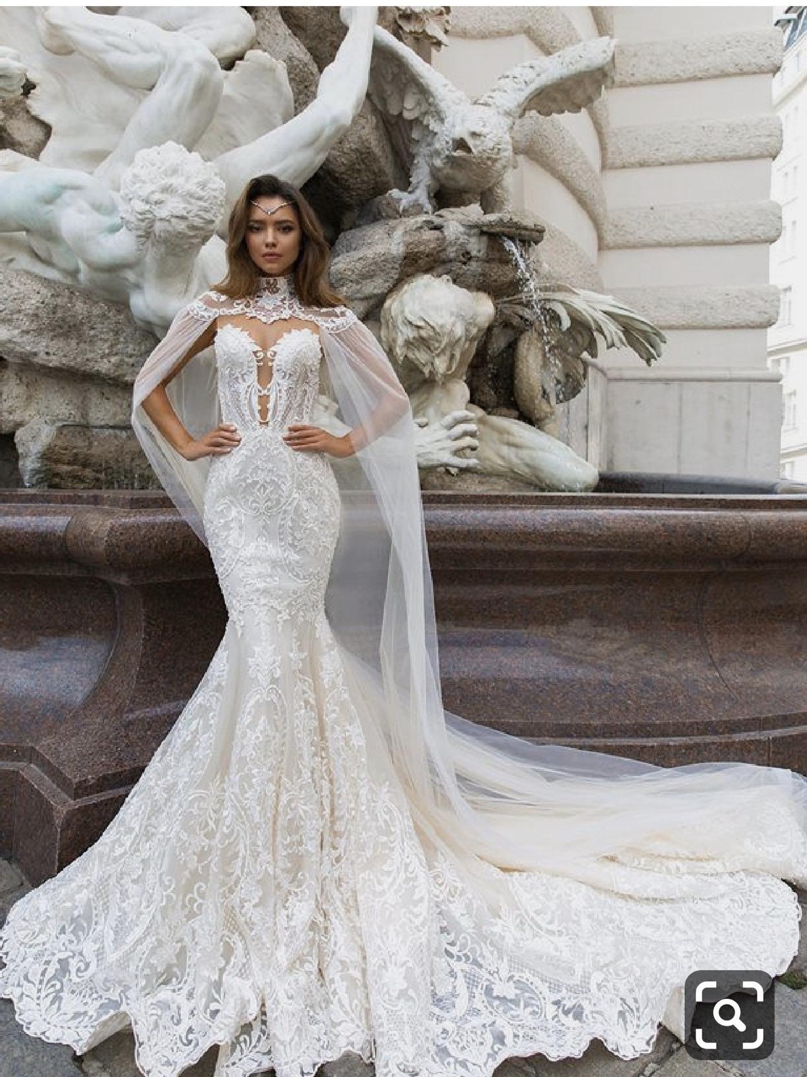 White Mermaid Prom Dress With Train Evening Gownsafrican Etsy Gorgeous Wedding Dress Wedding Reception Dress Wedding Dresses [ 2118 x 1588 Pixel ]