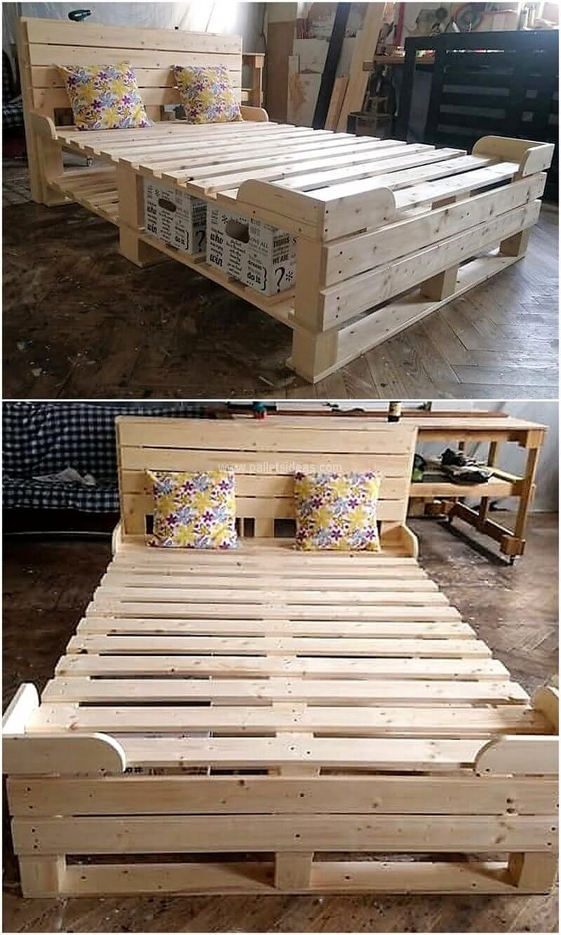 These Days The Ingenious Pallets Wood Artworks Are Slanting On The Web These Artworks Are Getting G Pallet Decor Diy Pallet Furniture Pallet Furniture Bedroom