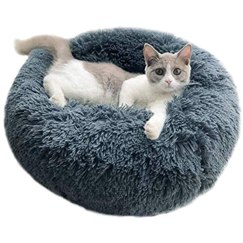 50CM, Apricot Pet Beds for Cats Dastrues Dog Bed Dog Bed Cat Bed Pet Beds for Cats Pet Bed Pet Beds for Dogs Cat Pet Dog Cat Calming Bed Round Nest Warm Soft Plush Comfortable for Sleeping Winter