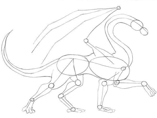 Cómo Dibujar Dragones - Estilo 1 - Paso 3