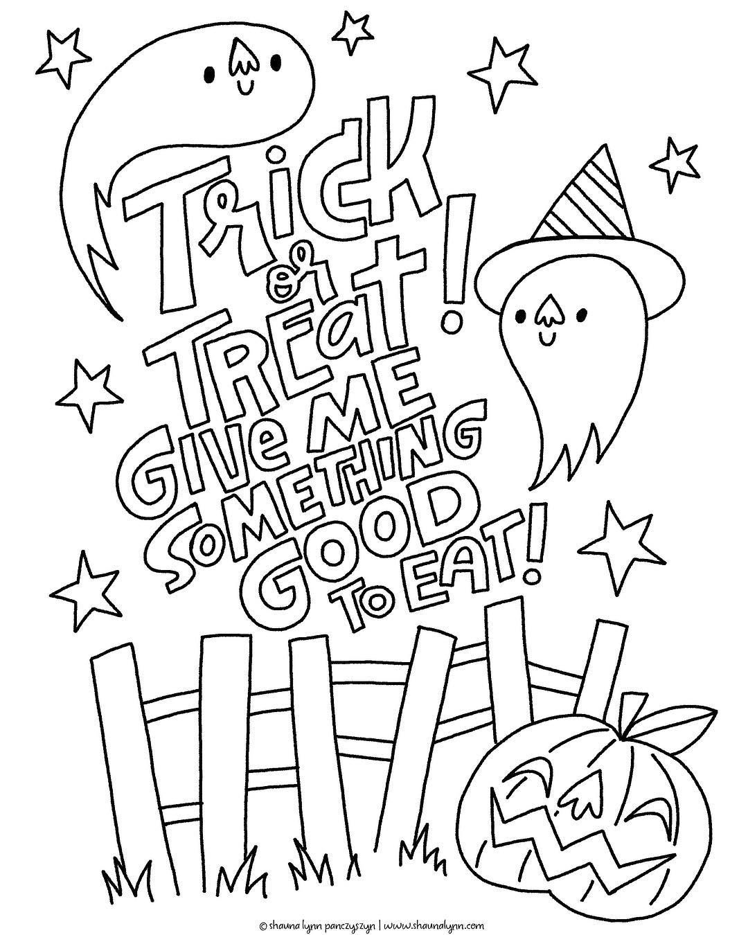 I Made A Little Halloween Coloring Book Page If You Re