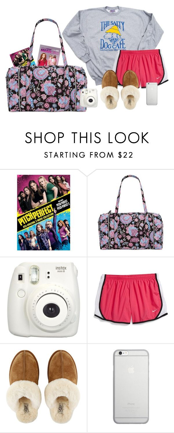 """Day 4: Sleepover"" by typical-lizzie ❤ liked on Polyvore featuring Vera Bradley, Fujifilm, NIKE, UGG, Native Union and schoolsoutmadiandashe"