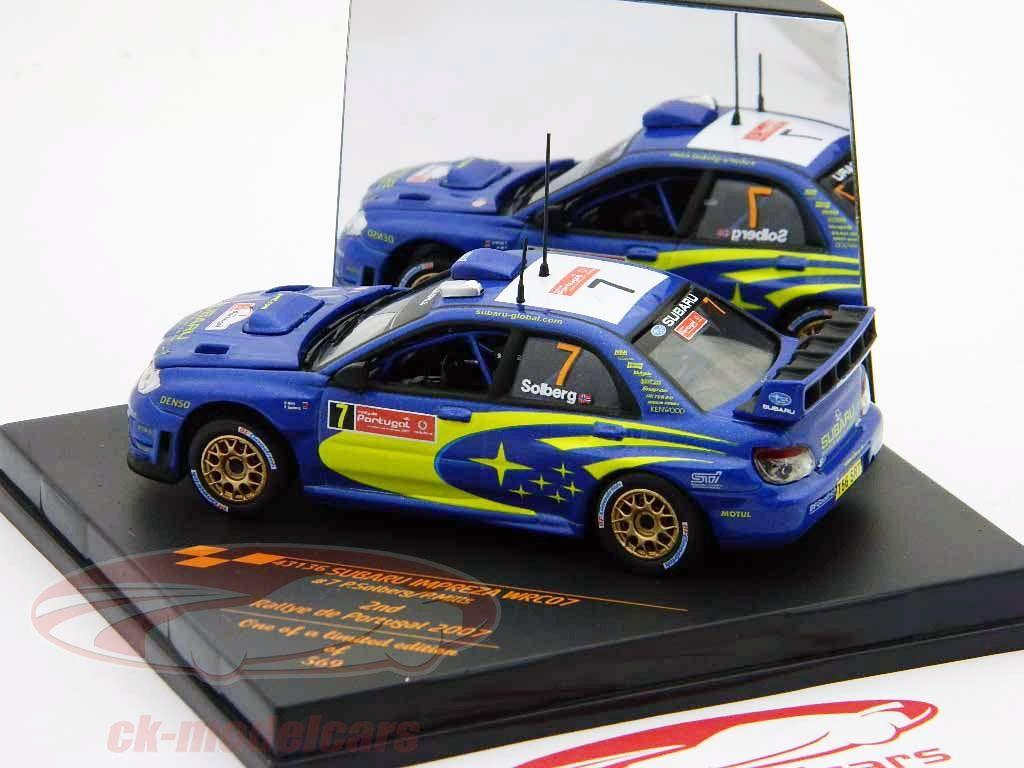 Subaru impreza wrc07 2nd rally portugal 2007 no 7 p solberg