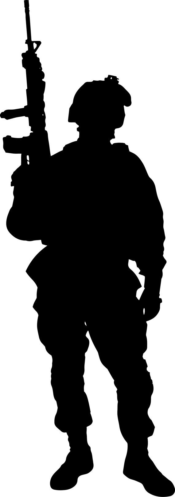 Army Soldier Wall Decal Wall Stickers Large 163 Cm X 58 Cm 5 Feet Soldier Silhouette Military Drawings Army Soldier
