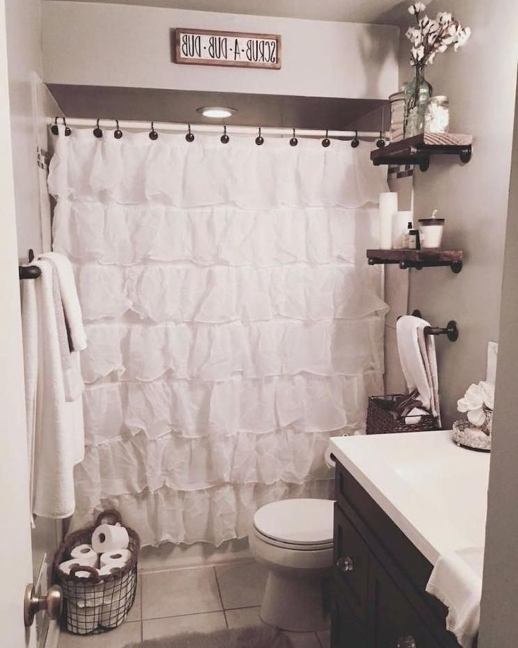 Rustic Shower Curtains Beautiful Farmhouse Bathroom Remodel Decor