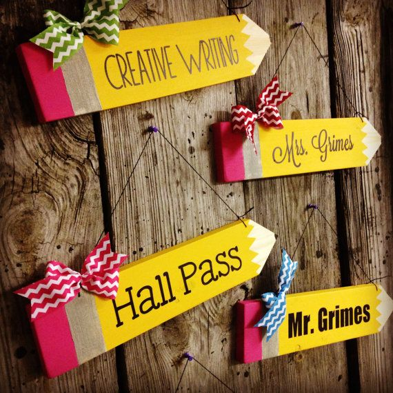 Personalized Wooden Pencil Hangers by KitaleighBoutique on Etsy, $21.99