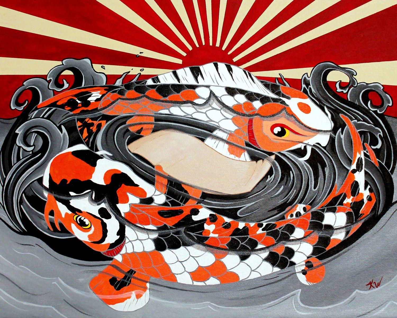 Koi Fish Painting Print 8\
