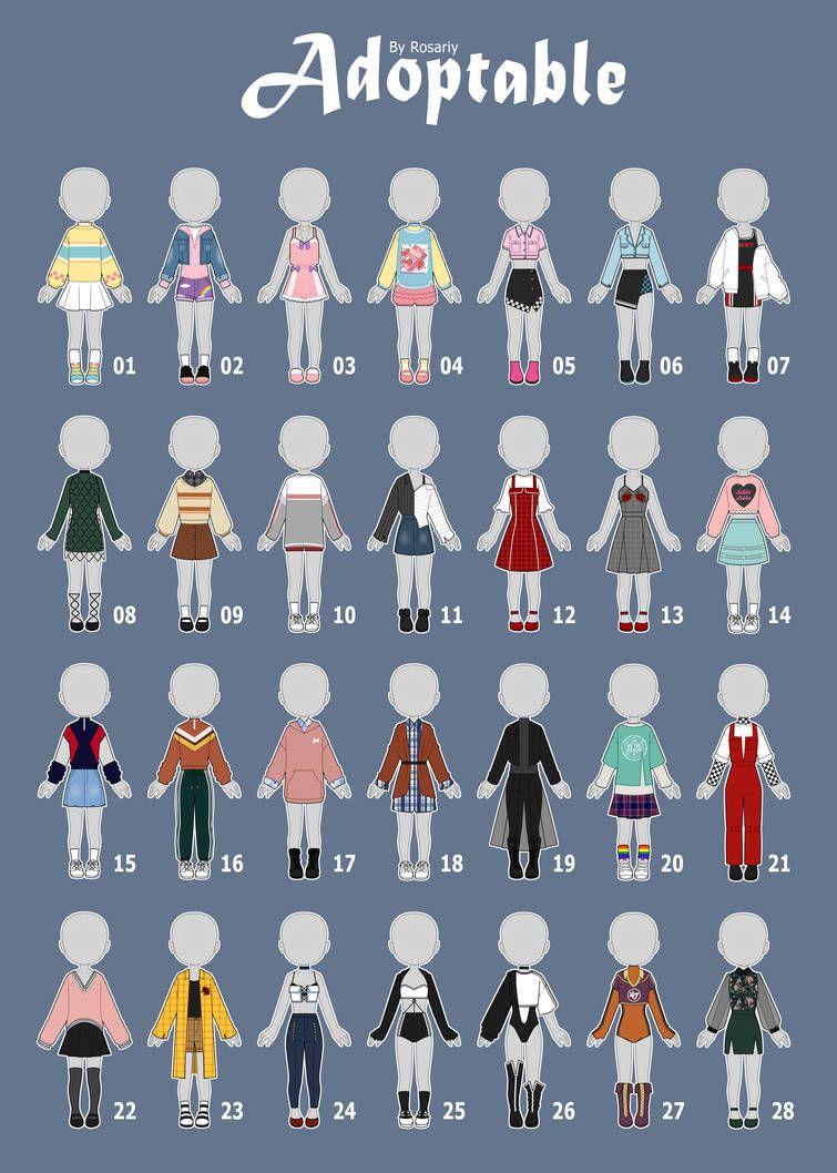Pin von Bene auf Alltagsmode  Outfits zeichnen, Anime kleidung
