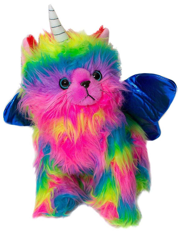 Pin By Strade On Aesthetic Rainbow Rainbow Butterfly Unicorn Kitten Animal Plush Toys Rainbow Butterfly