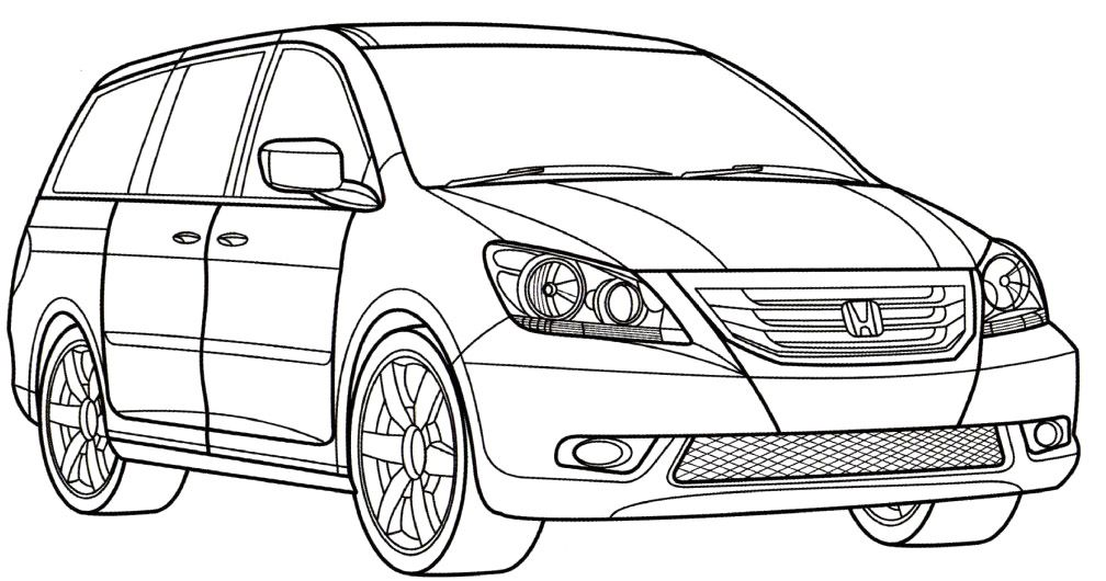 Honda Odyssey Coloring Page Honda Car Coloring Pages With