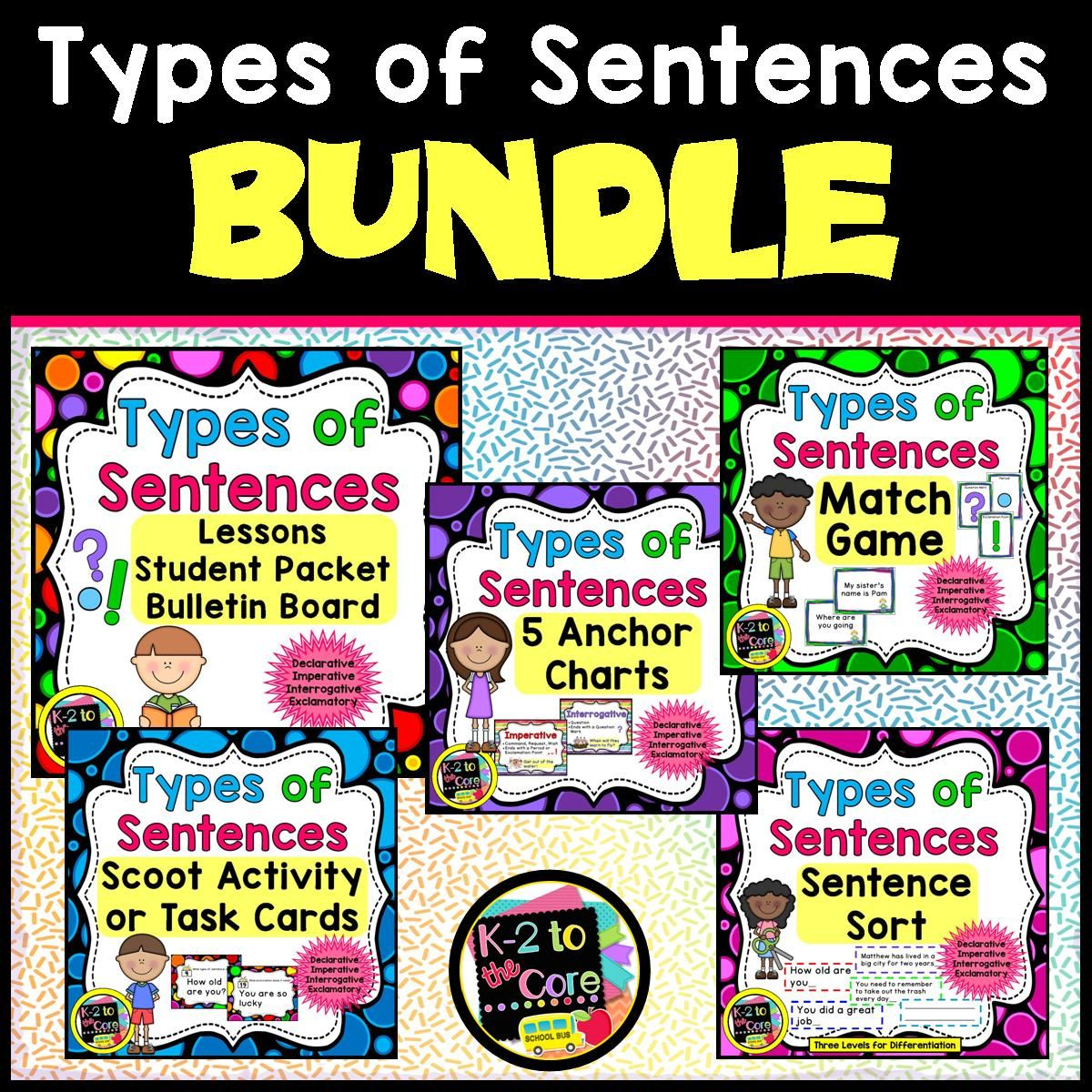 Types Of Sentences And Punctuation Bundle