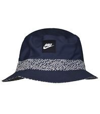 15f4776009077 NIKE GOLF Midnight Navy White BUCKET HAT MENS ADULT UNISEX S M NEW  Reversible