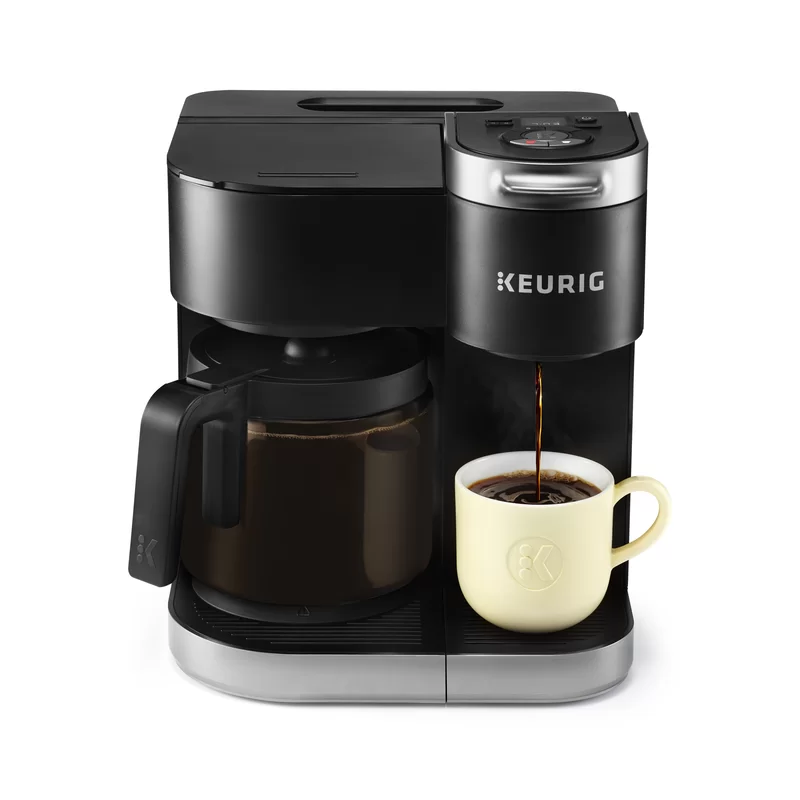 Keurig K Duo Coffee Maker With Single Serve K Cup Pod And 12 Cup Carafe Brewer In 2020 Single Coffee Maker Coffee Maker Pod Coffee Makers