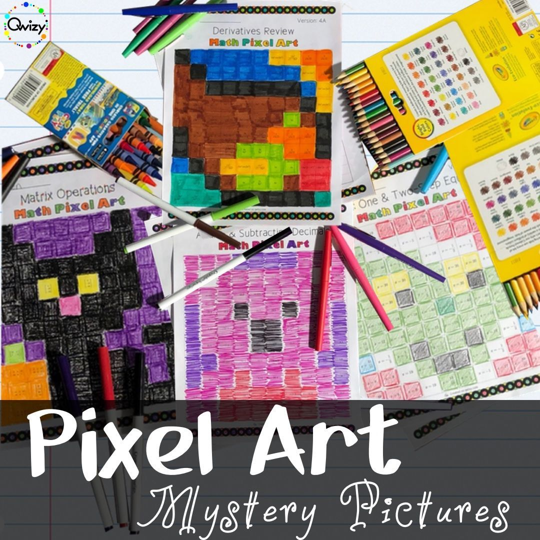 Math Pixel Art Activities In