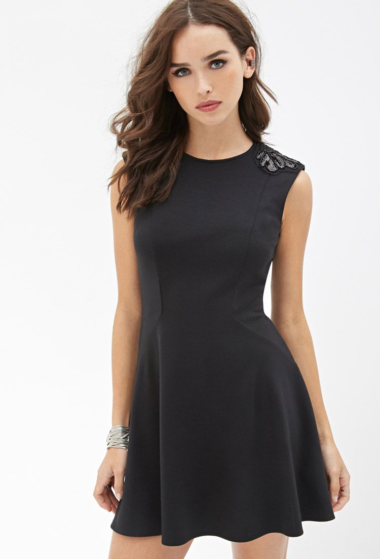 Embellished fit flare dress forever 21 canada fit