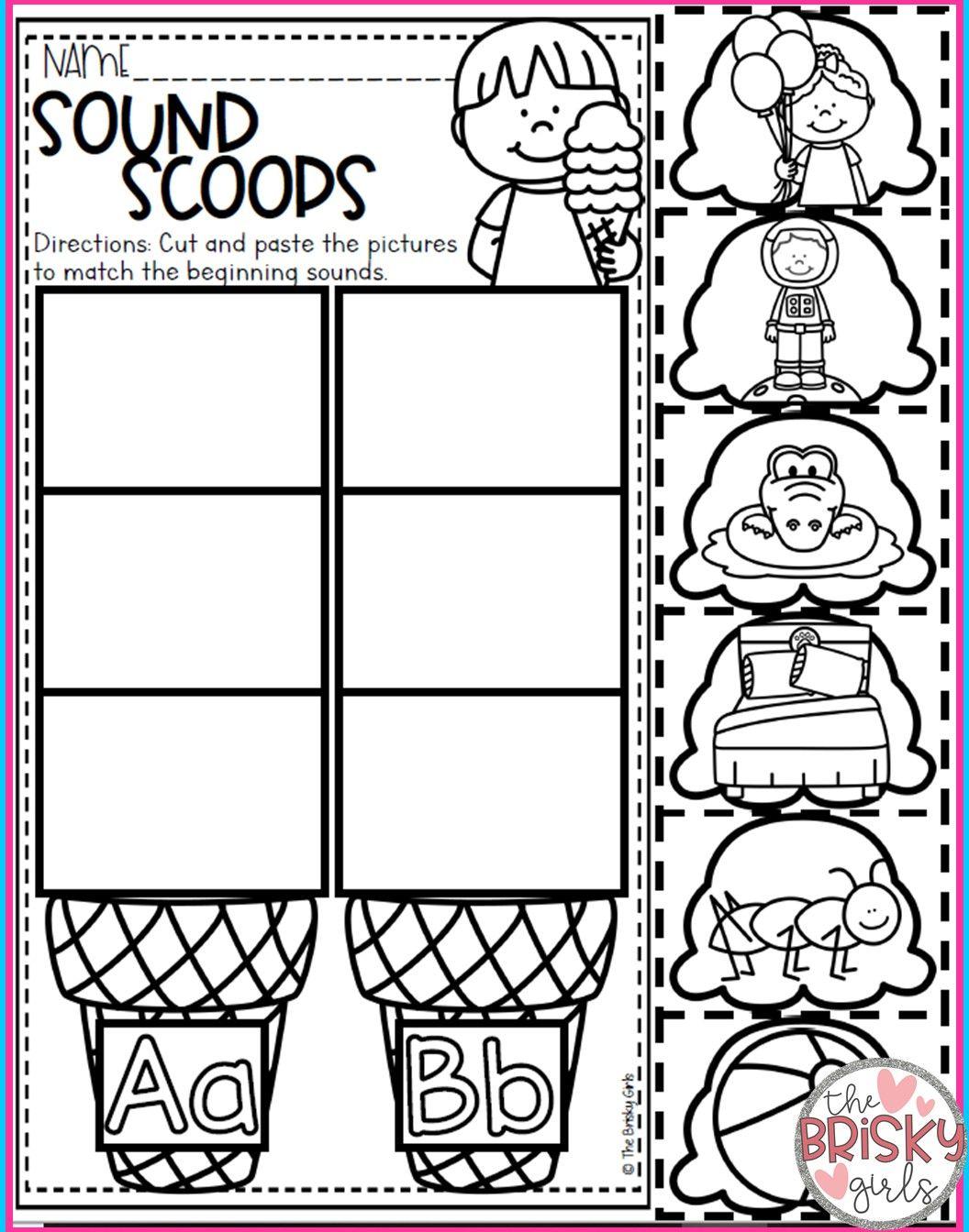 Kindergarten Activities Beginning Sounds Activities