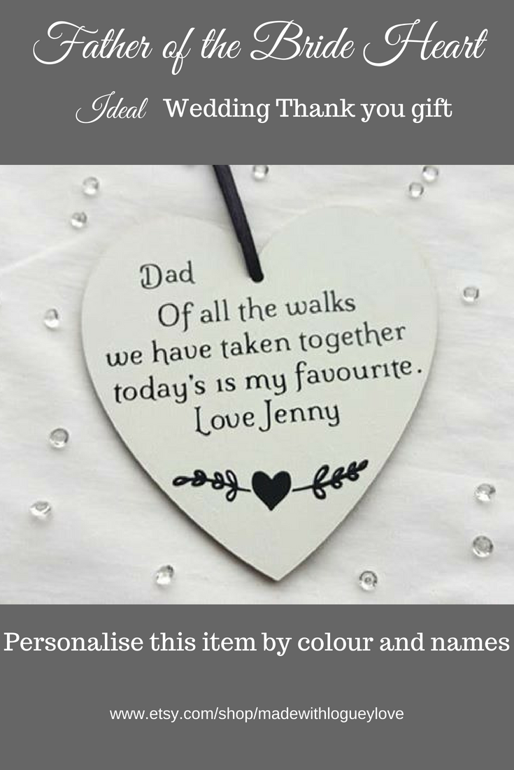 This Sentimental Father Of The Bride Gift Is A Unique Way For Brides To Tell Their Dad Just How Mu Dad Wedding Gift Maid Of Honour Presents Father Of The Bride