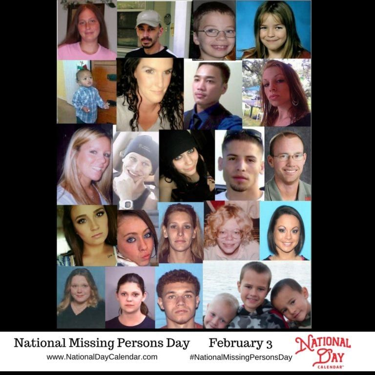 National missing persons day february 3 missing