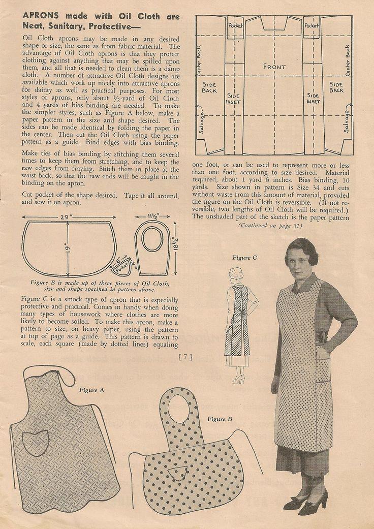 1930 Vintage Apron Patterns | Free Vintage Apron Patterns circa ...