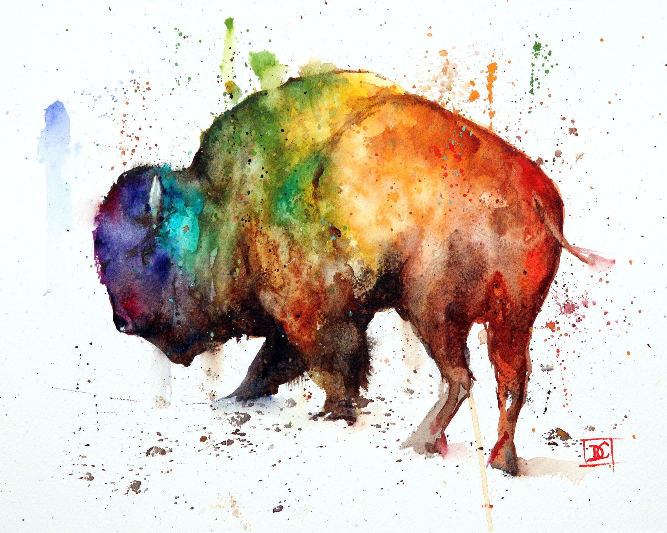 Buffalo Watercolor Bison Painting By Dean Crouser With Images