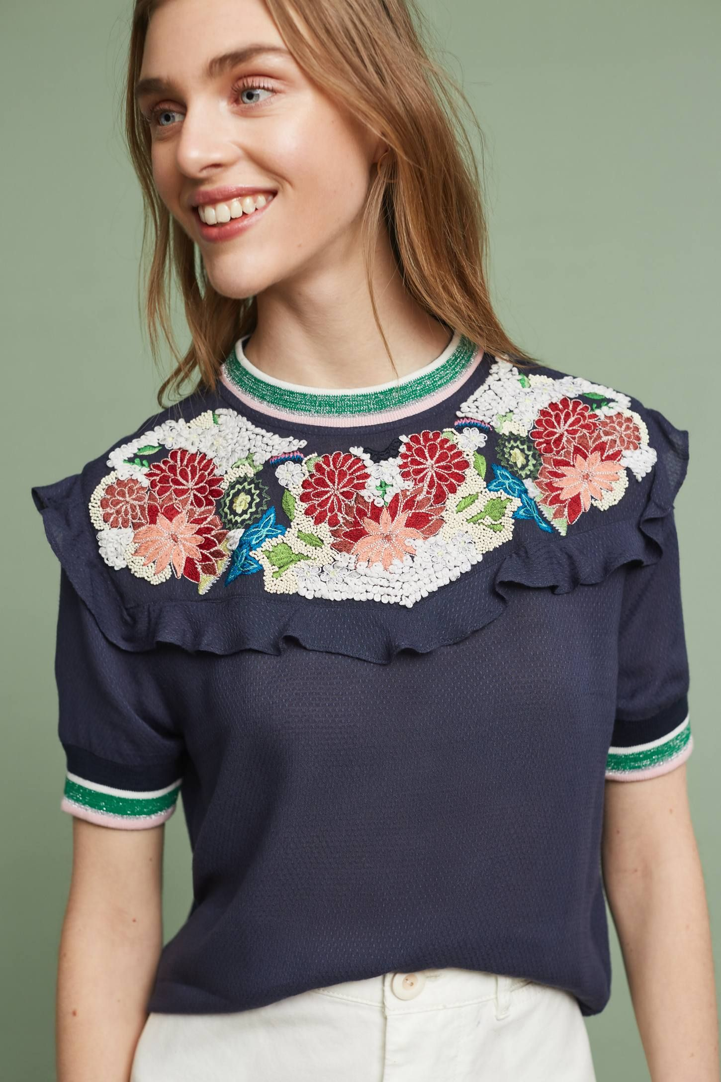 Shop the Aldwyn Embroidered Top and more Anthropologie at Anthropologie today. Read customer reviews, discover product details and more.