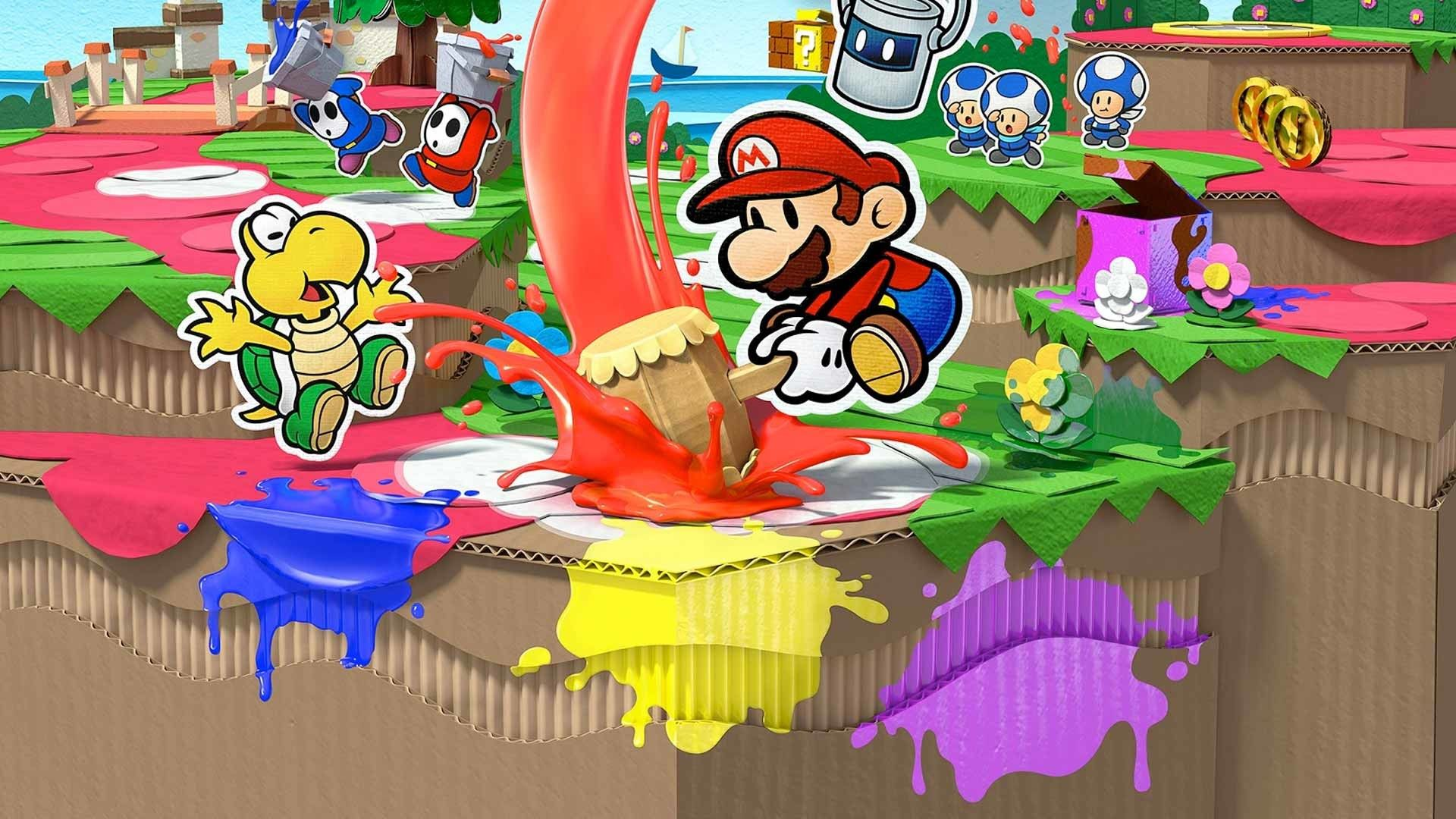 Paper Mario Color Splash Pictures