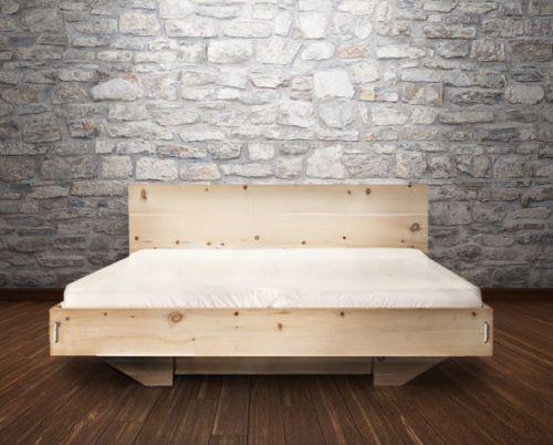details zu zirbenbett metallfrei, zirbenholzbett, massivholzbett