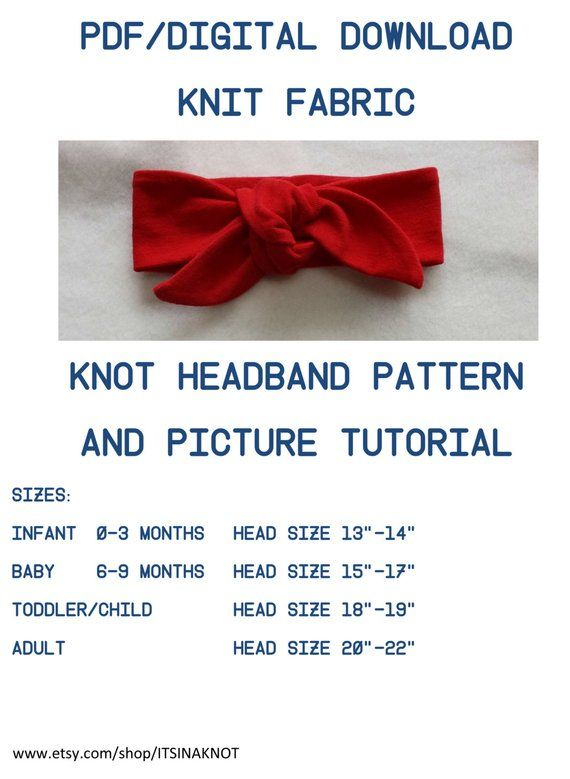 Headwrap PDF Pattern, Tutorial Knit Top Knot Pattern,Headwrap PDF Pattern, Infant Headband Pattern PDF / Pattern and Picture Tutorial for Knit fabric. This pattern prints out in regular patter from your Printer. This listing is for a Pattern and Tutorial Only, no headband included #babyheadbands