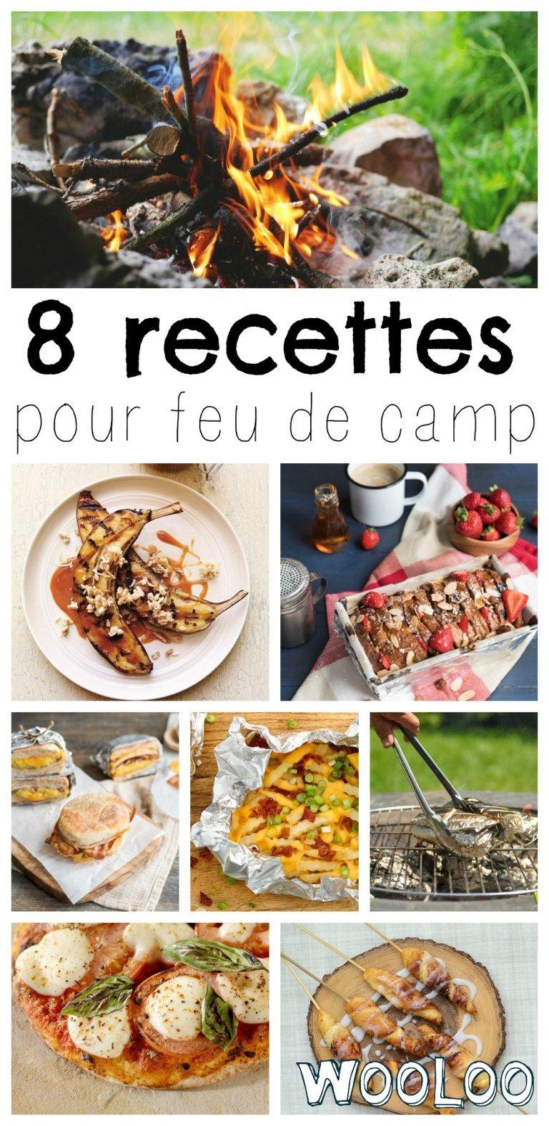 8 recettes gourmandes à cuisiner sur un feu de camp   Recette camping, Repas camping et Feu de camp