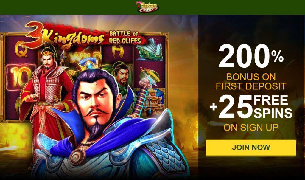 7spins Casino 675 Welcome Bonus 25 Free Spins 15 Cash Back