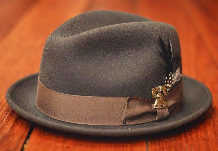 9134ea1946f Belsky Leather Fedora Hat