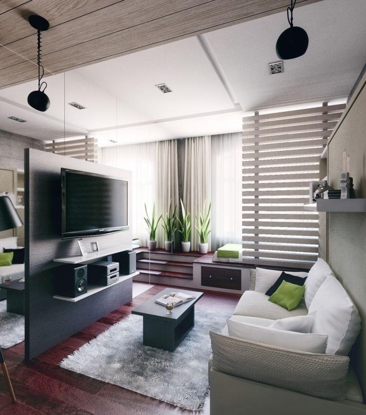 Einzimmer-Wohnung optimal aufteilen und gestalten Studio type - einrichtung ideen optimale wohnflache