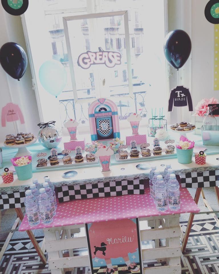 grease birthday party | grease birthday party | Pinterest | 50er