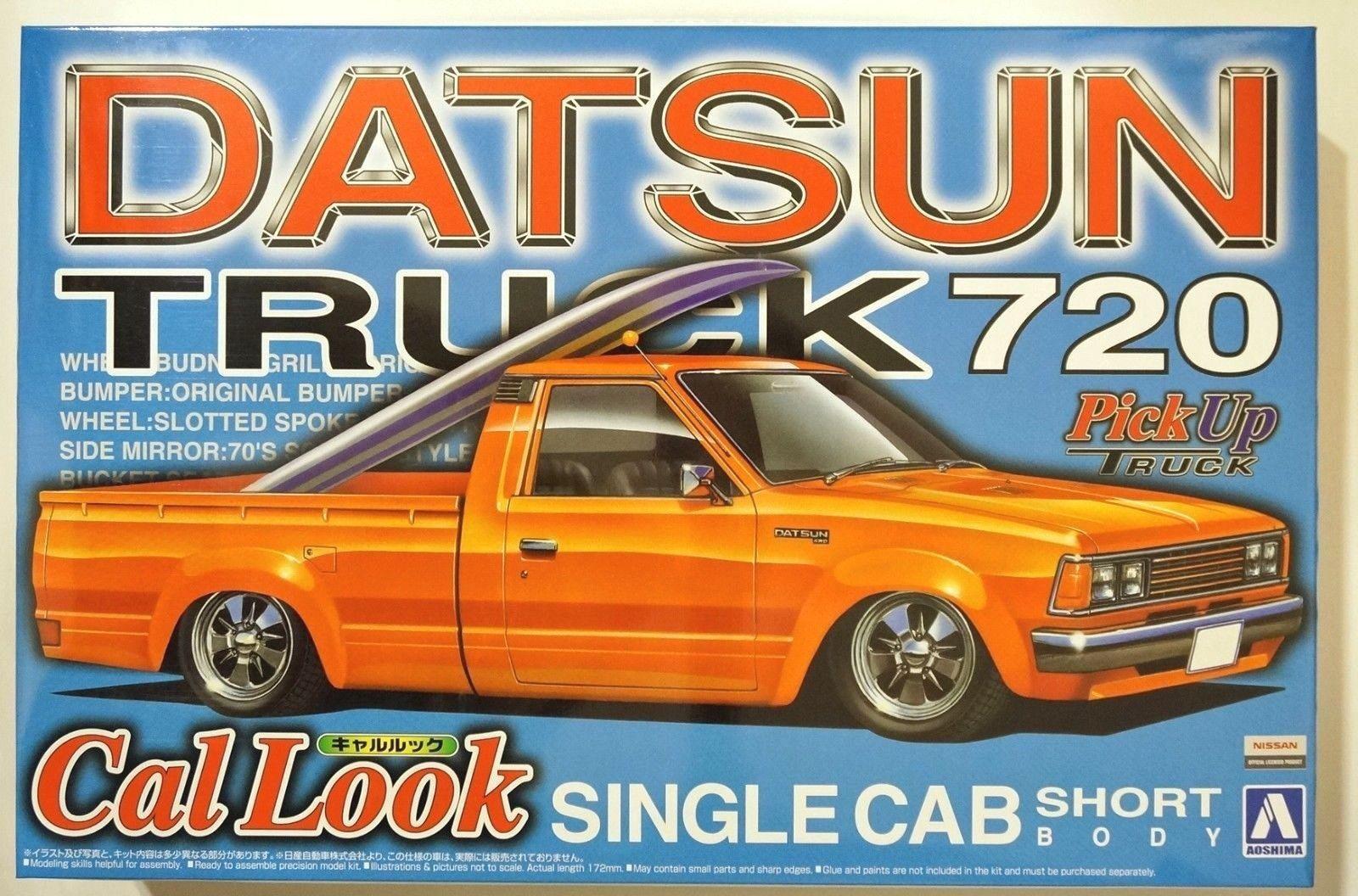 Aoshima pickup truck 4 1 24 datsun truck 720 cal look single cab short body kit