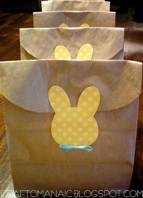 Easter bunny embellished goodie bag use for easter treats or to easter bunny embellished goodie bag use for easter treats or to hold easter eggs for the negle Gallery
