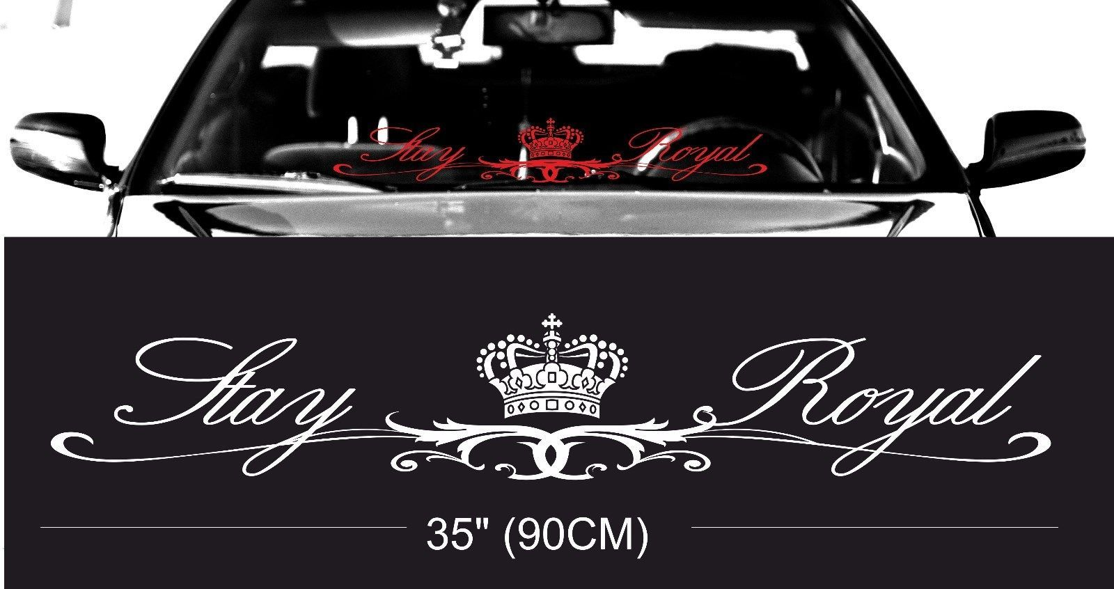 Compare prices royal stay royal windshield windscreen front glass car jdm decal windshield decal