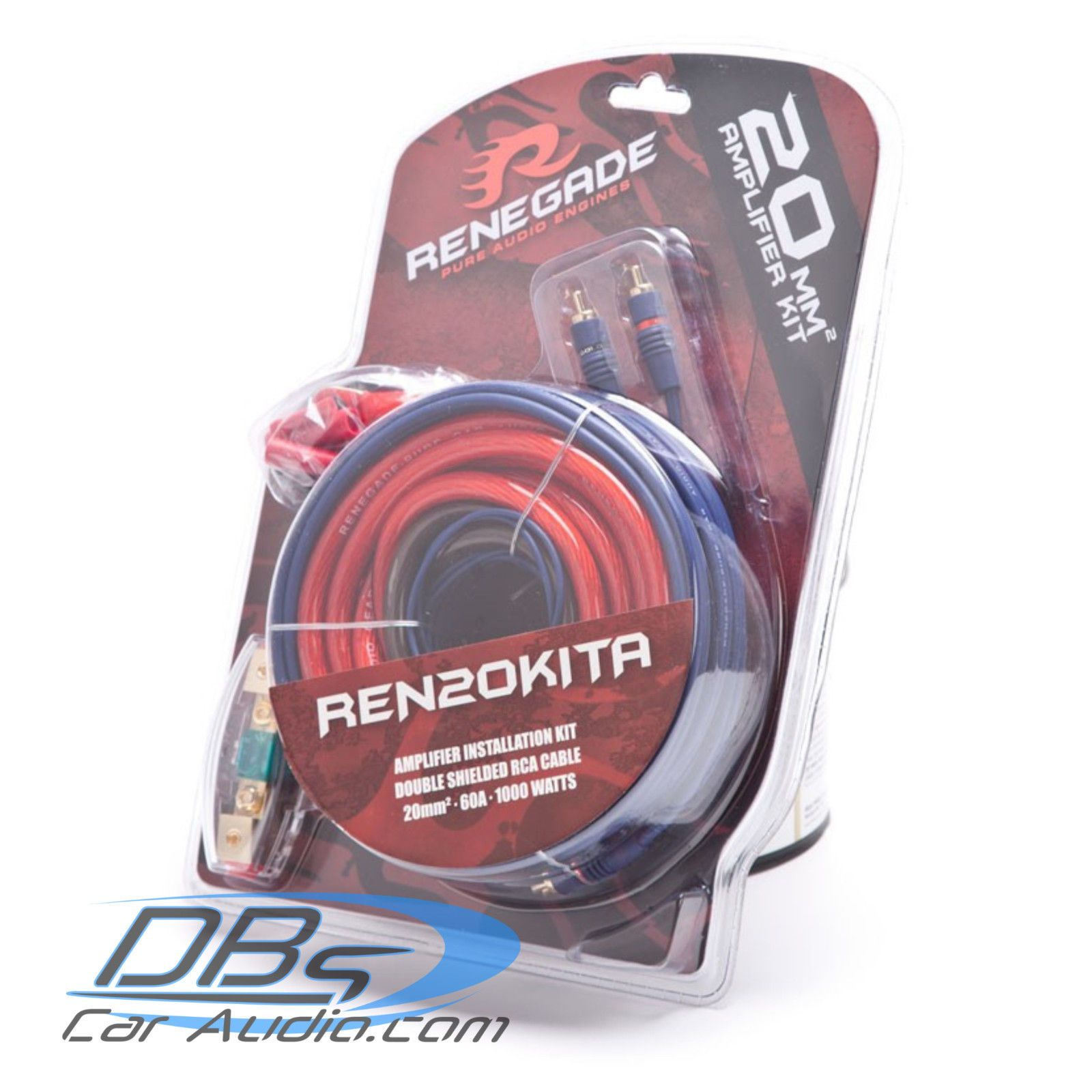 Amplifier Kits Renegade By Rockford Fosgate Ren20kita 4 Gauge Amp Wiring Kit 1000w