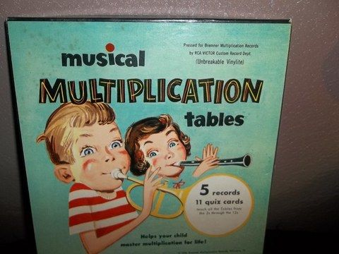 1956 Musical Multiplication Tables Records Vintage School