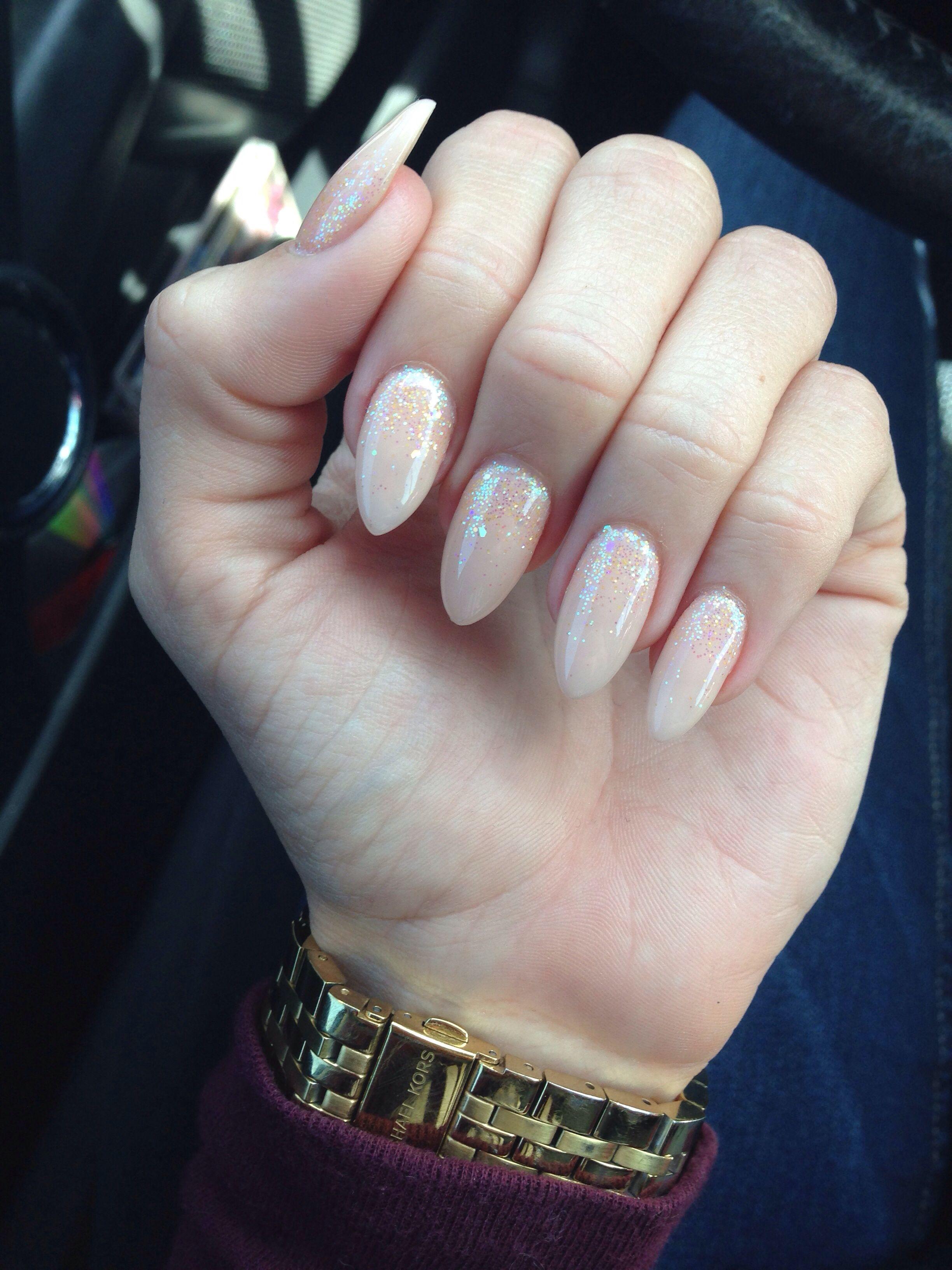 Peachy neutral stiletto nail | Nails | Pinterest
