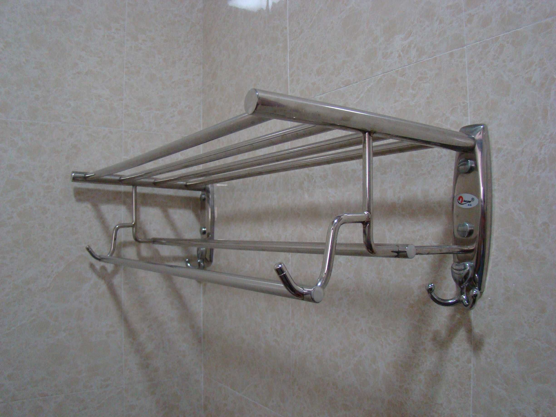 Wall Towel Rack | Wall Mounted Towel Rack With Shelf (HK-CS-TR01 ...