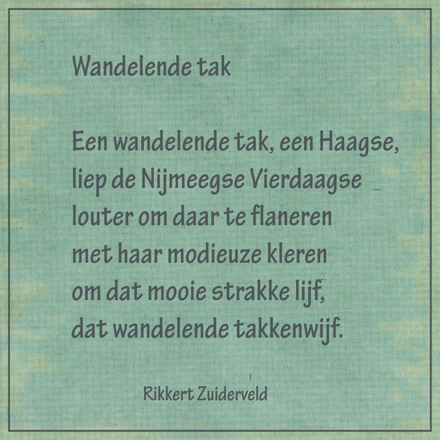 Wandelende tak - (dierengedichten van Rikkert Zuiderveld) -