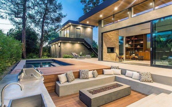 Photo of Top 60 der besten Sitzideen für Feuerstellen im Freien Backyard Designs – Sitzgelegenheiten für Feuerstellen im Freien