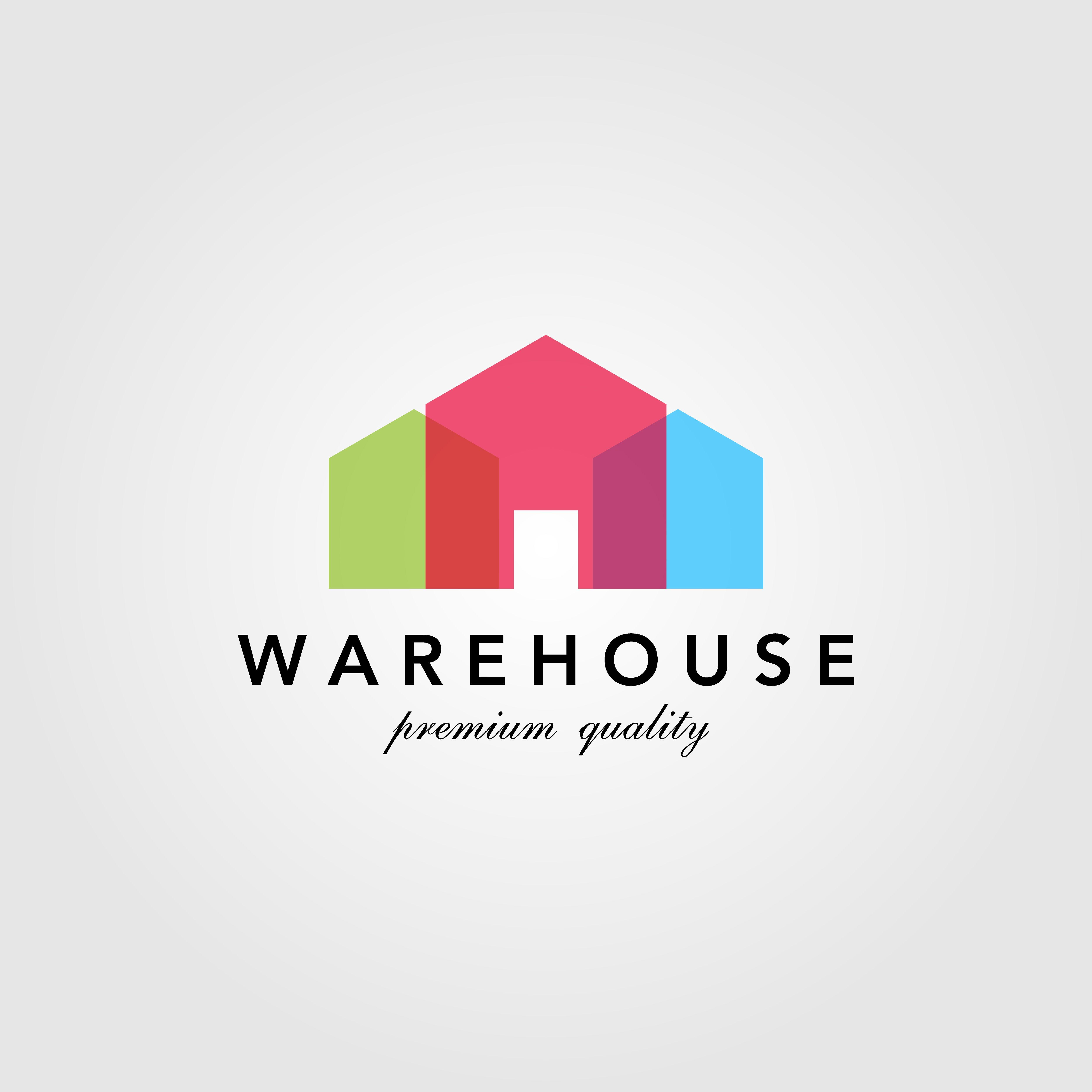 modern, warehouse, barn, building, colorful, logo, design ...