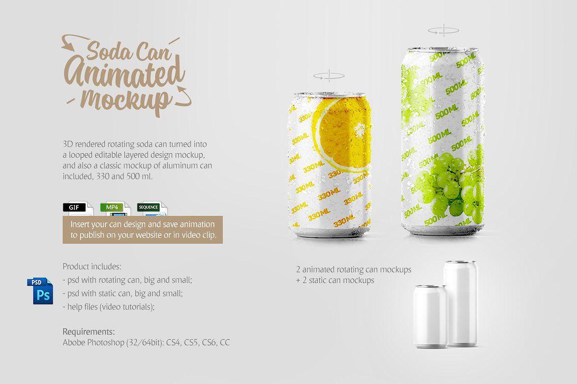 Download Soda Can Animated Product Mockup 69060 Packaging Mockup Soda Can Mockup