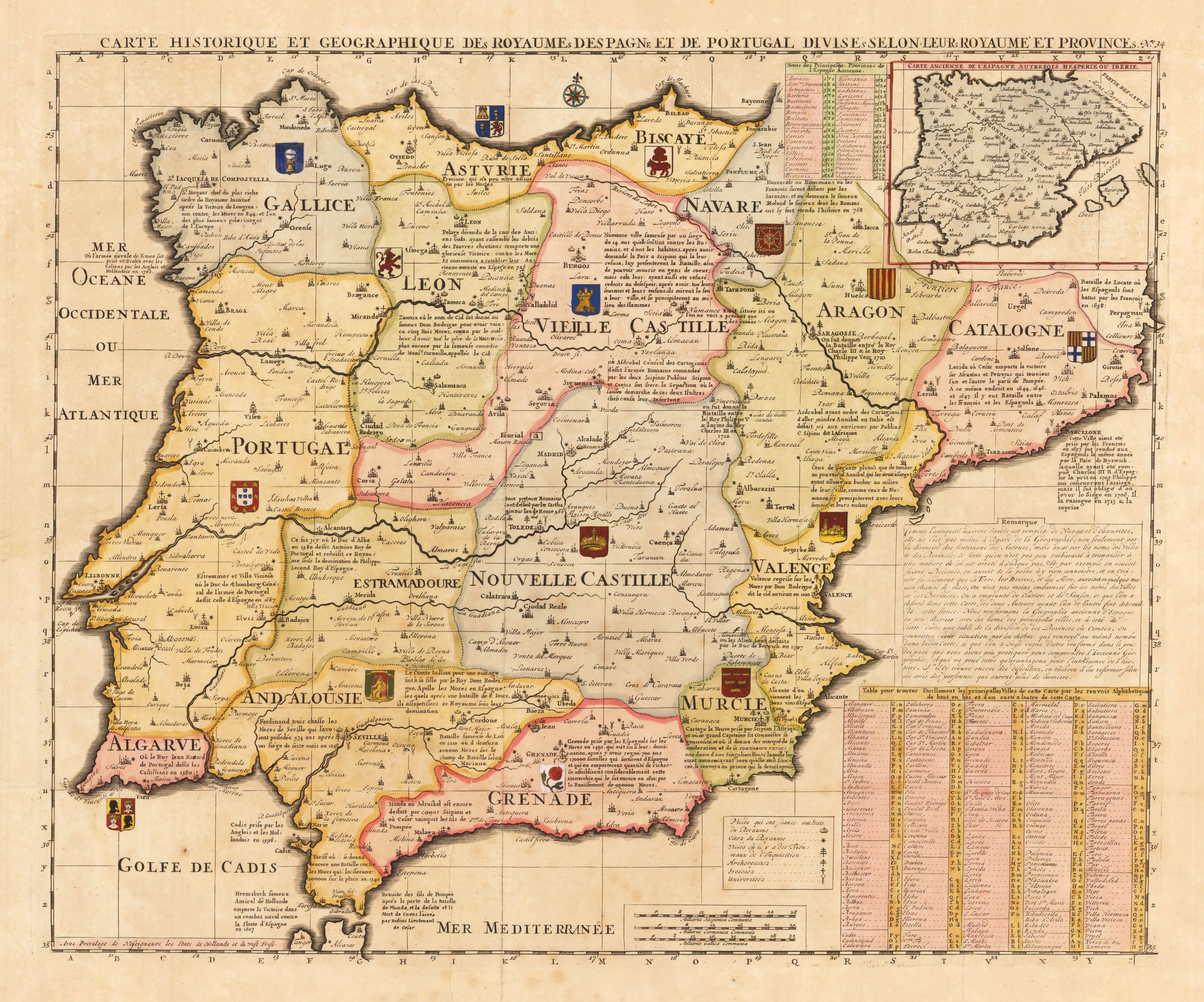 An Exquisite Map Of The Iberian Peninsula And Its Provinces Drawn - Portugal map iberian peninsula