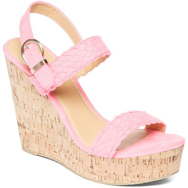 Charles Albert Fuchsia Wedge Sandal (€12) ❤ liked on Polyvore featuring shoes, sandals, wedges, platform wedge sandals, charles albert sandals, platform shoes, fuchsia sandals and high heel platform shoes