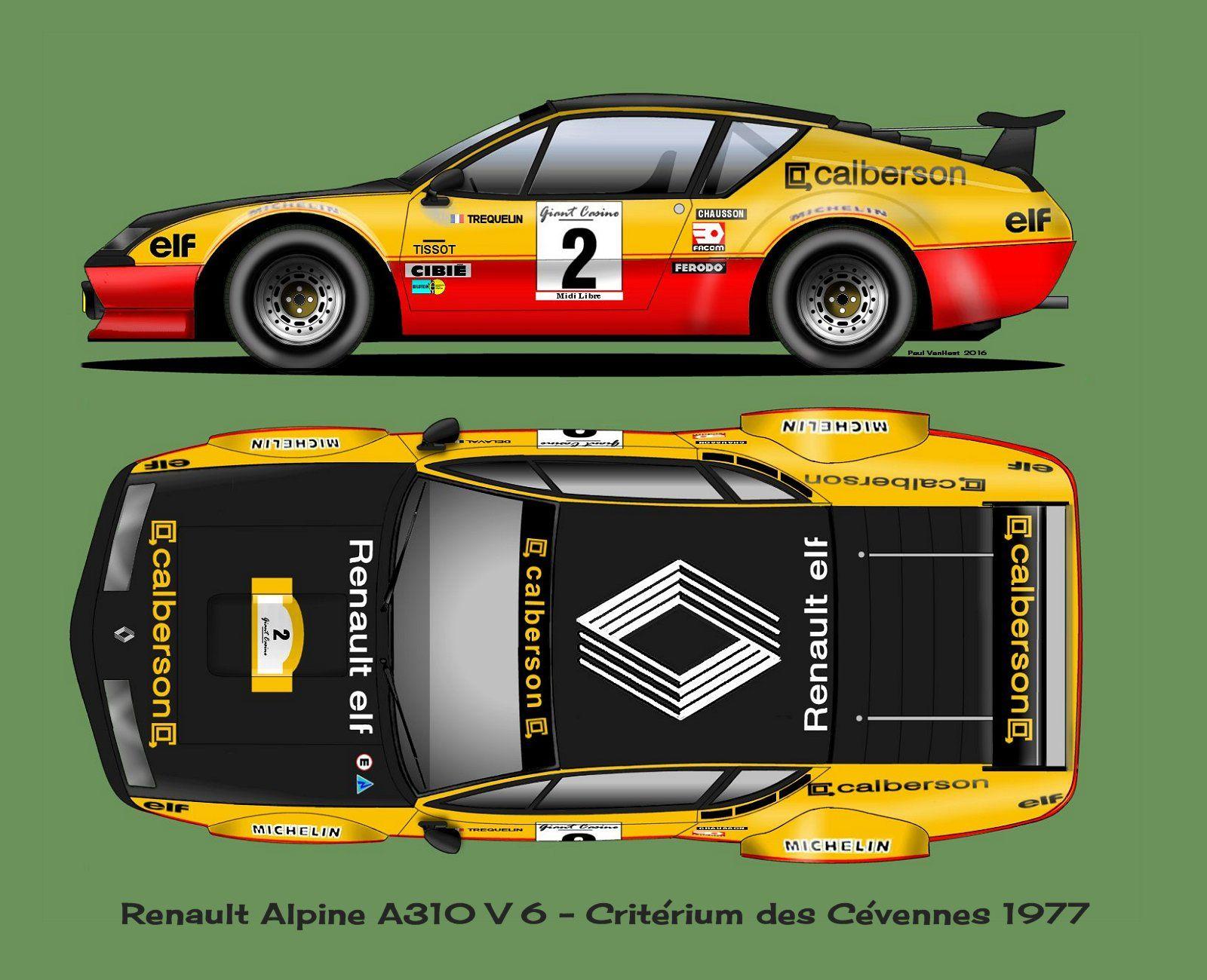 Renault alpine a310 voiture de legende pinterest - Dessin de aloine ...