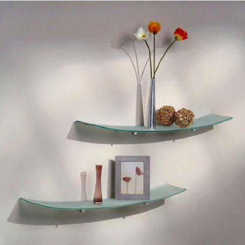 Aviana Valencia 8 Inch X 36 Inch Concave Frosted Glass Shelf By Aviana Bath Glass Design 104 59 Estantes De La Esquina Estantes Flotantes Estantes De Armario