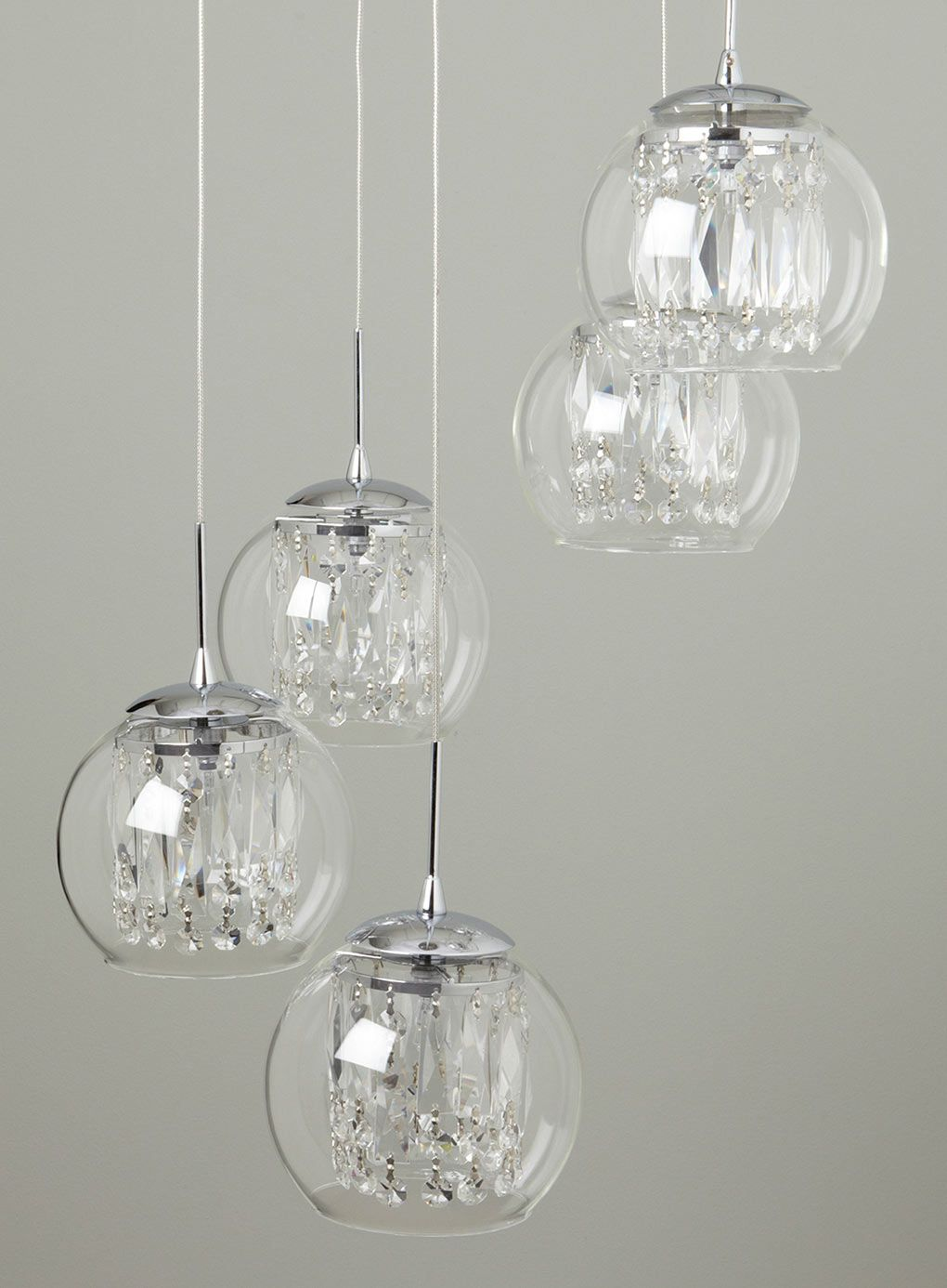 Smoke Nakita Cluster Pendant - ceiling lights - Lighting - BHS : crystal light pendant chandeliers - azcodes.com